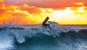 Surfing i Hawaii